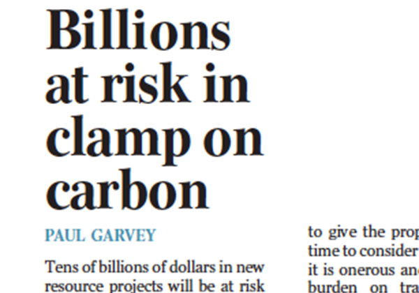 Billions at risk in clamp on carbon - The Australian