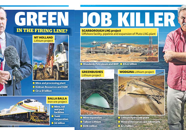 Green job killer - West Australian