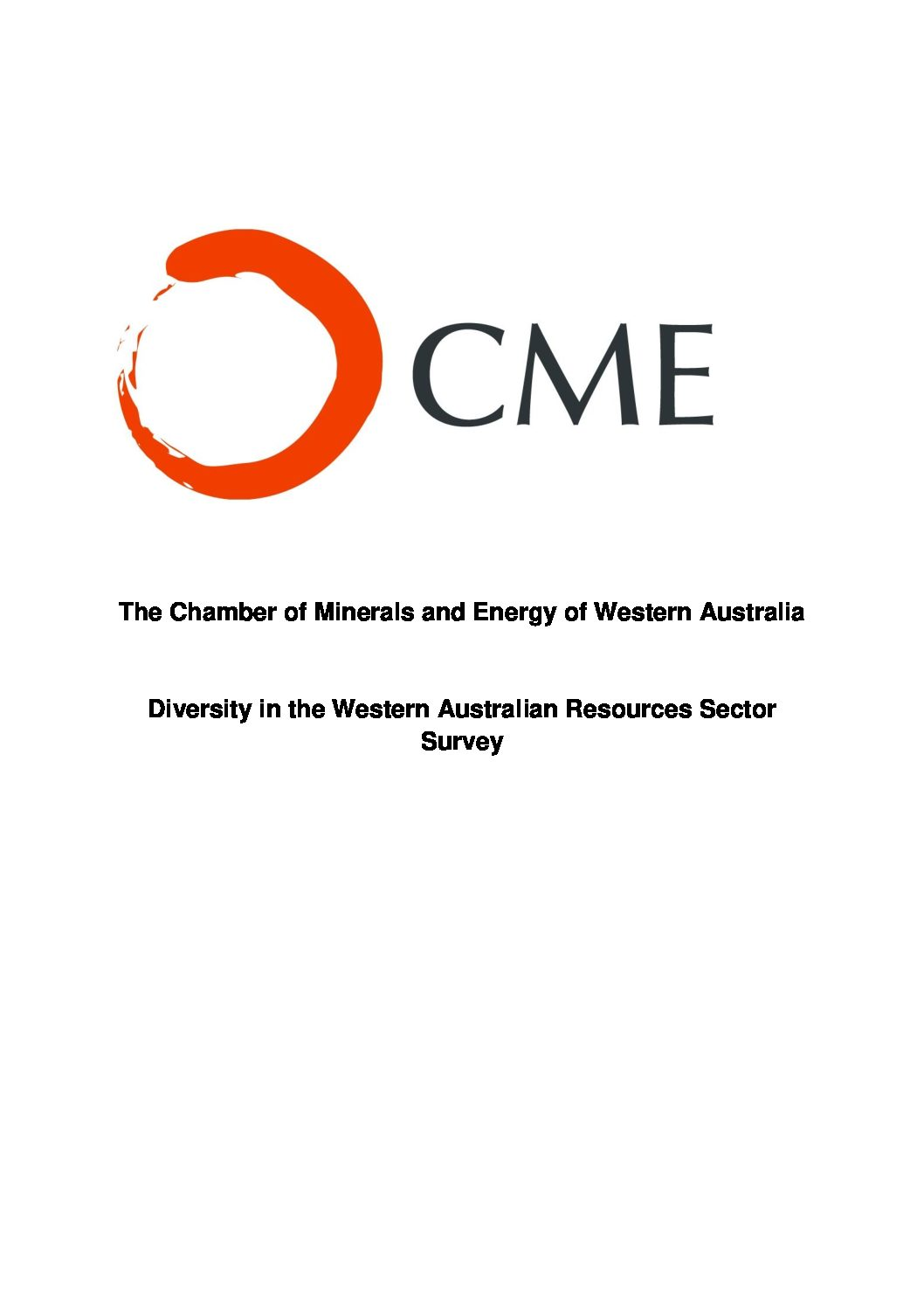 Diversity in the Western Australian Resources Sector Survey Report 2011