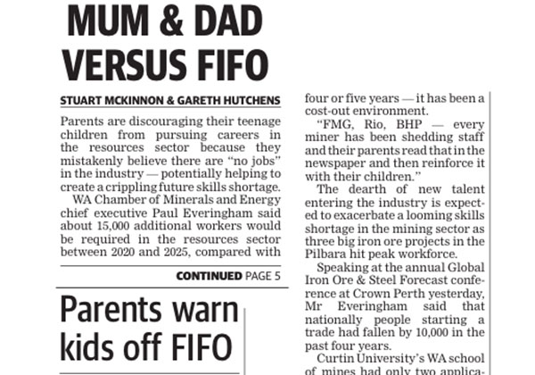 Mum and Dad vs FIFO - West Australian