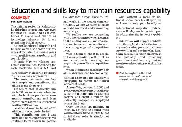 Education and skills - Kal Miner