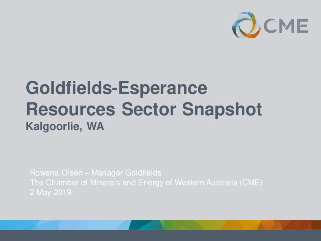 Goldfields-Esperance Resources Sector Snapshot