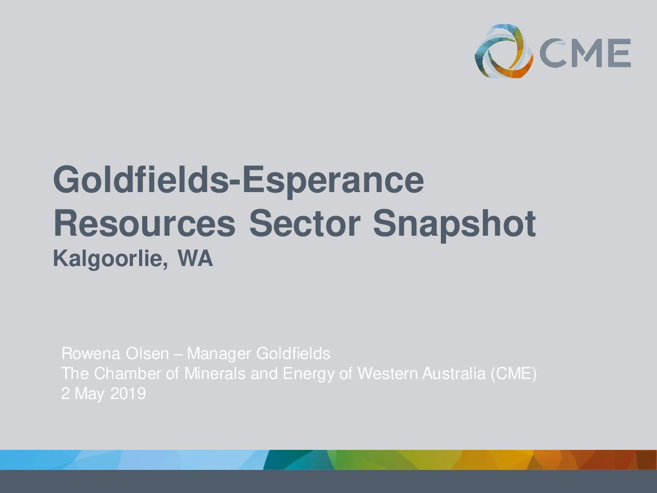 Goldfields-Esperance Resources Sector Snapshot