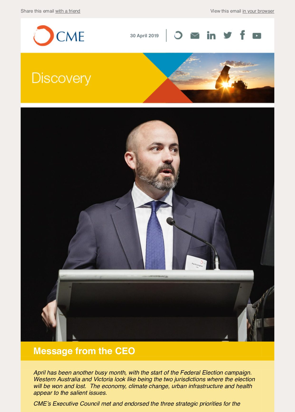 CME Discovery April 2019