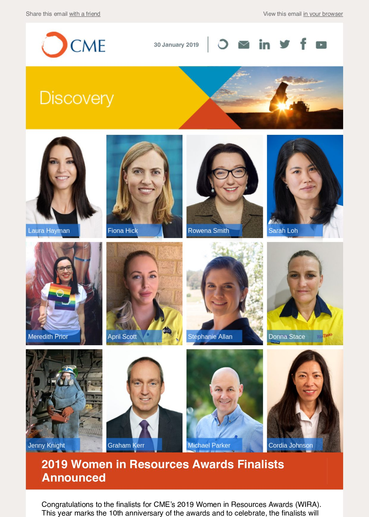 CME Discovery Jan 2019