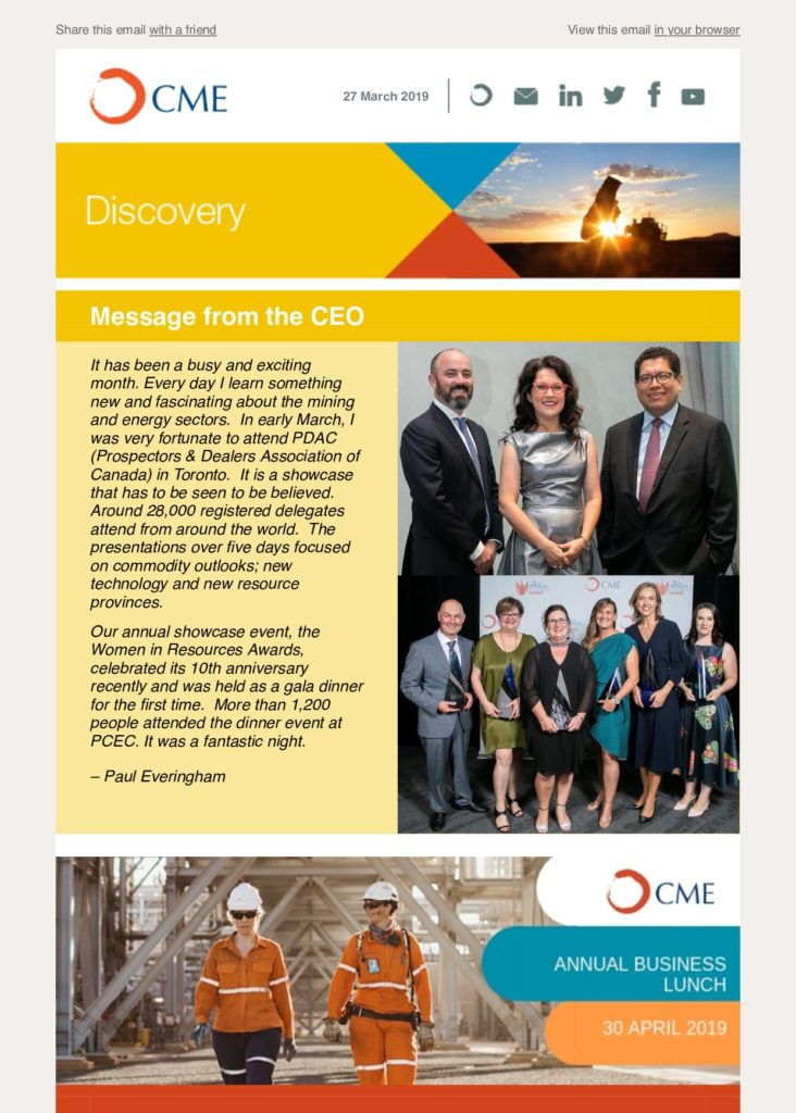 CME Discovery March 2019