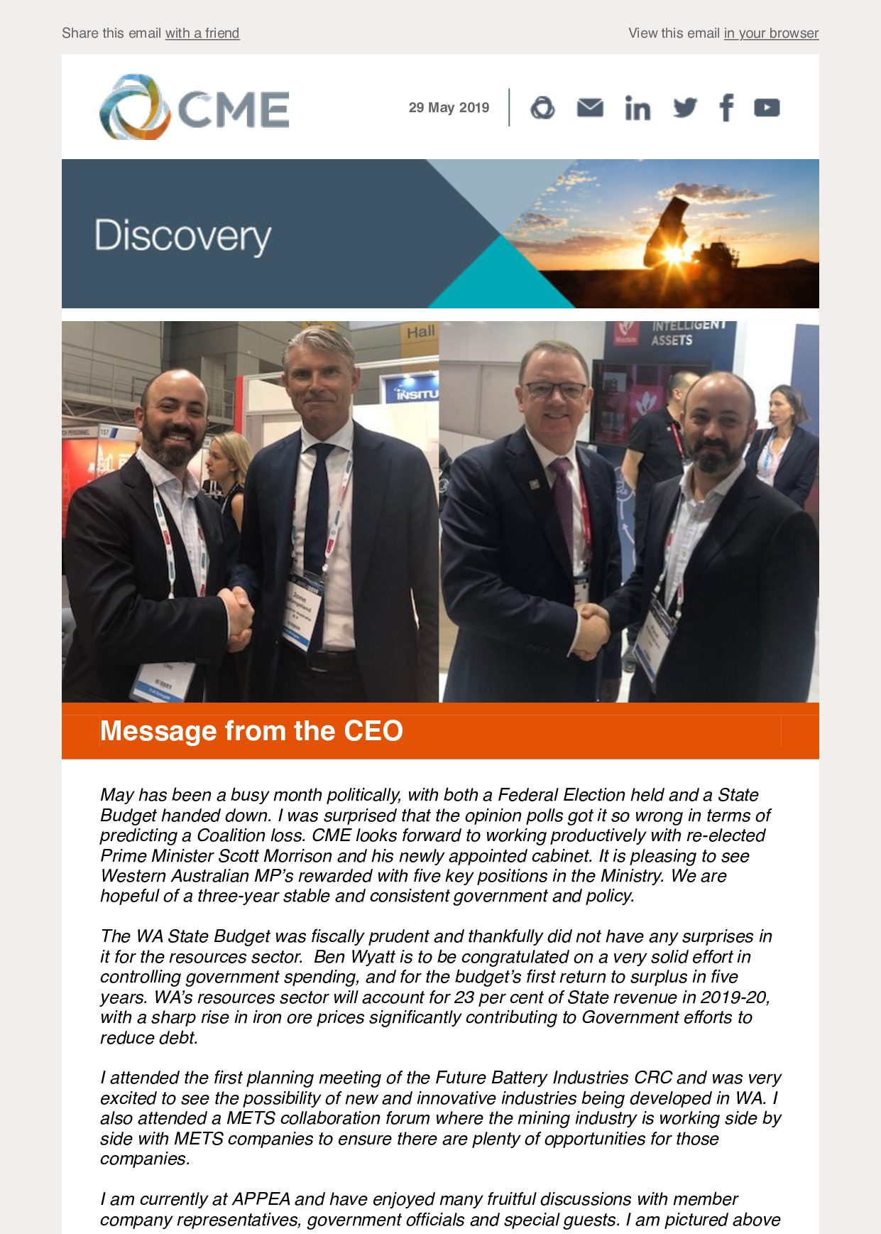 CME Discovery May 2019