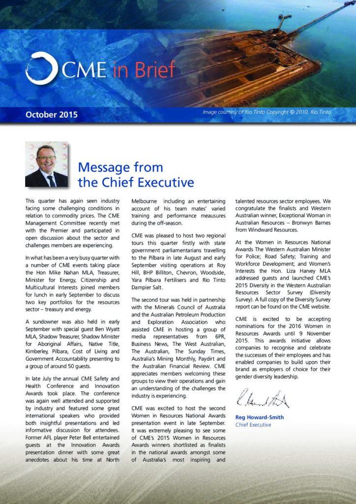 CME in Brief 2015 October