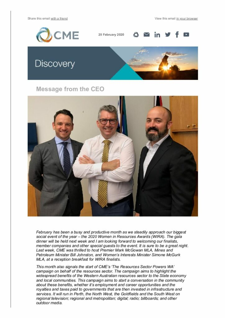 CME Discovery February 2020