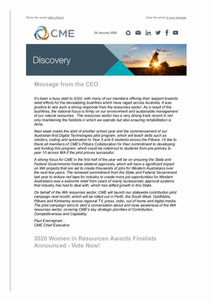 CME Discovery January 2020