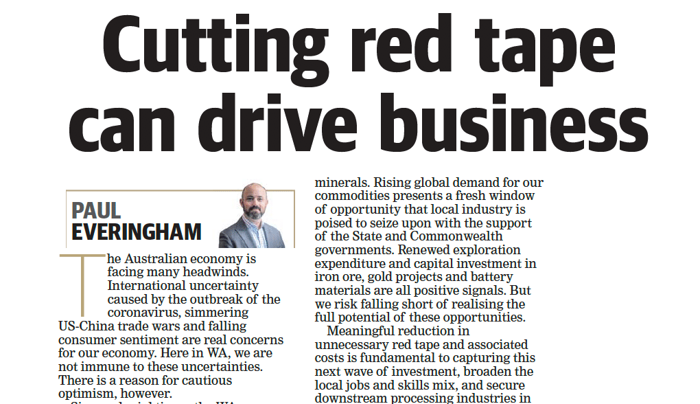 Cutting red tape can drive business
