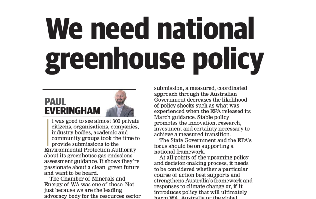 We need national greenhouse policy