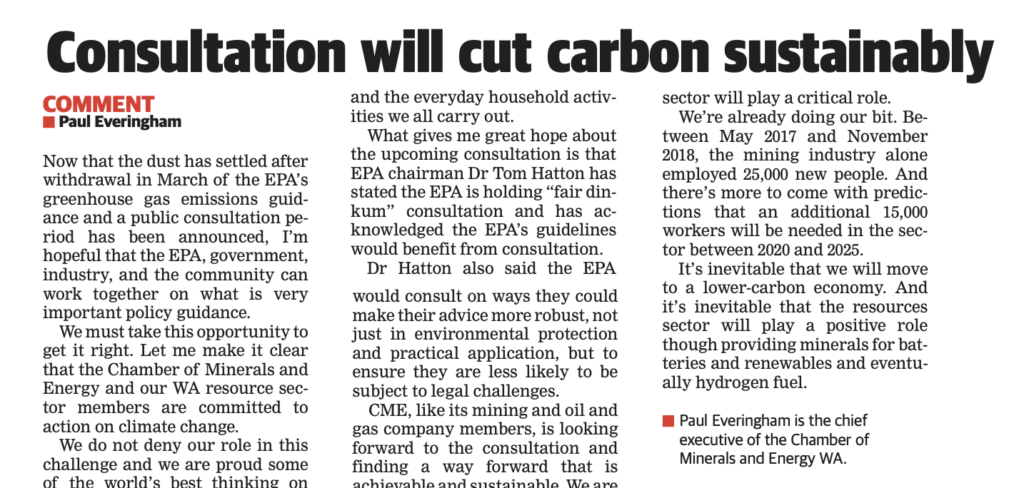 Consultation will cut carbon sustainability