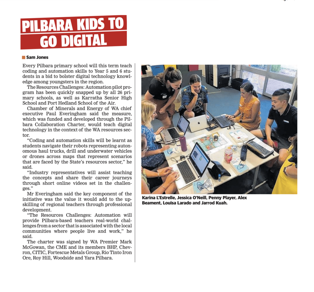 Pilbara kids go digital with help from the resources sector!