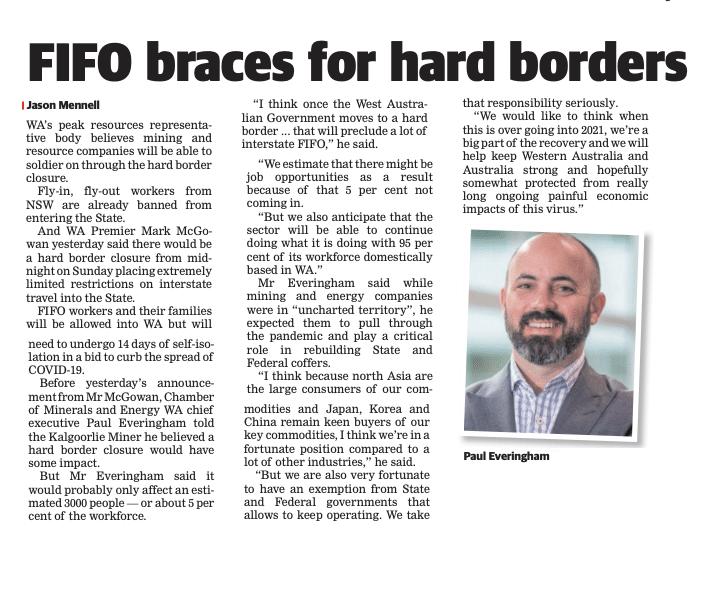 FIFO braces for hard borders