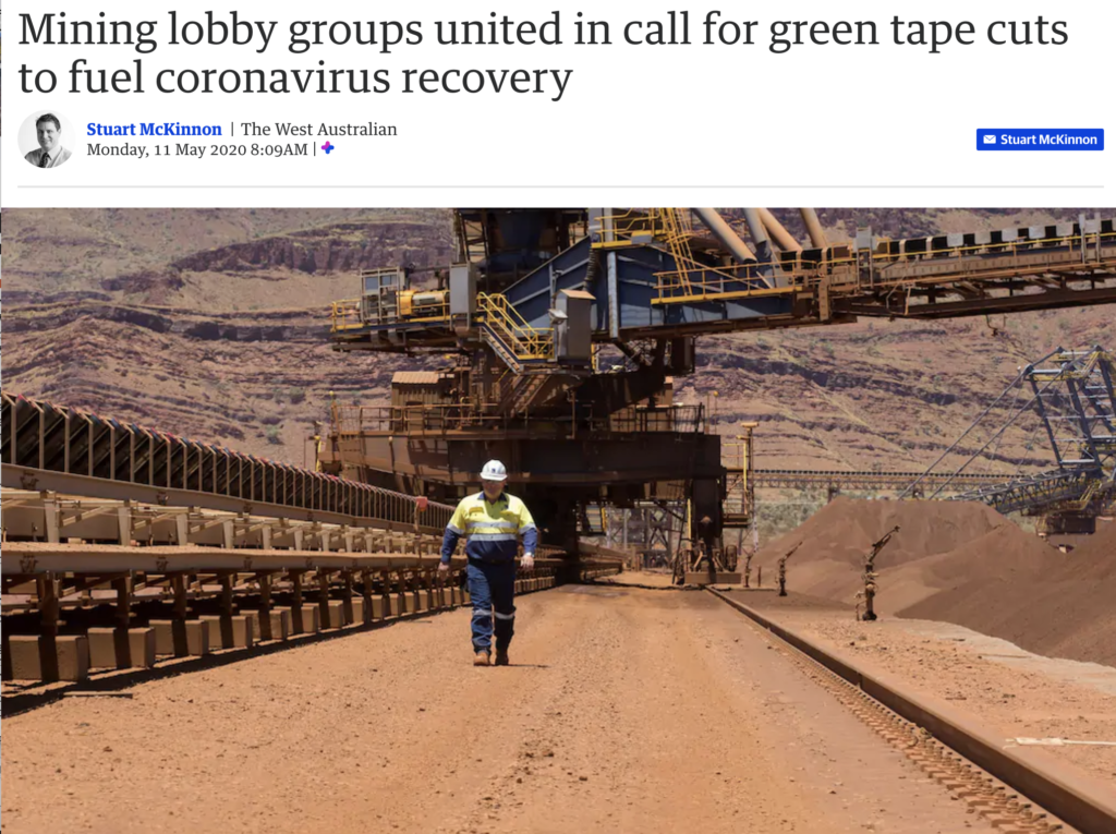 CME & fellow mining lobby groups united in call for green tape cuts to fuel coronavirus recovery