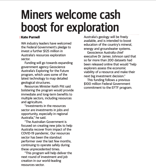 CME Members welcome cash boost for exploration