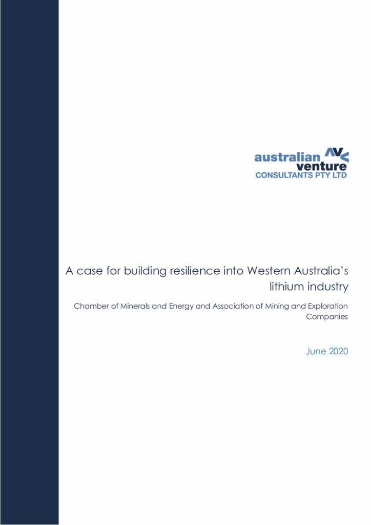 CME/AMEC - WA Lithium Industry Study, June 2020