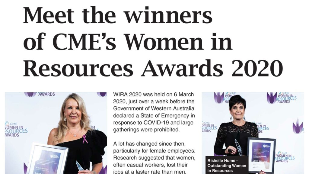 Meet the winners of CME's Women in Resources Awards 2020