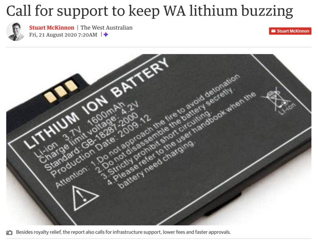 CME report calls for financial relief for WAs lithium industry