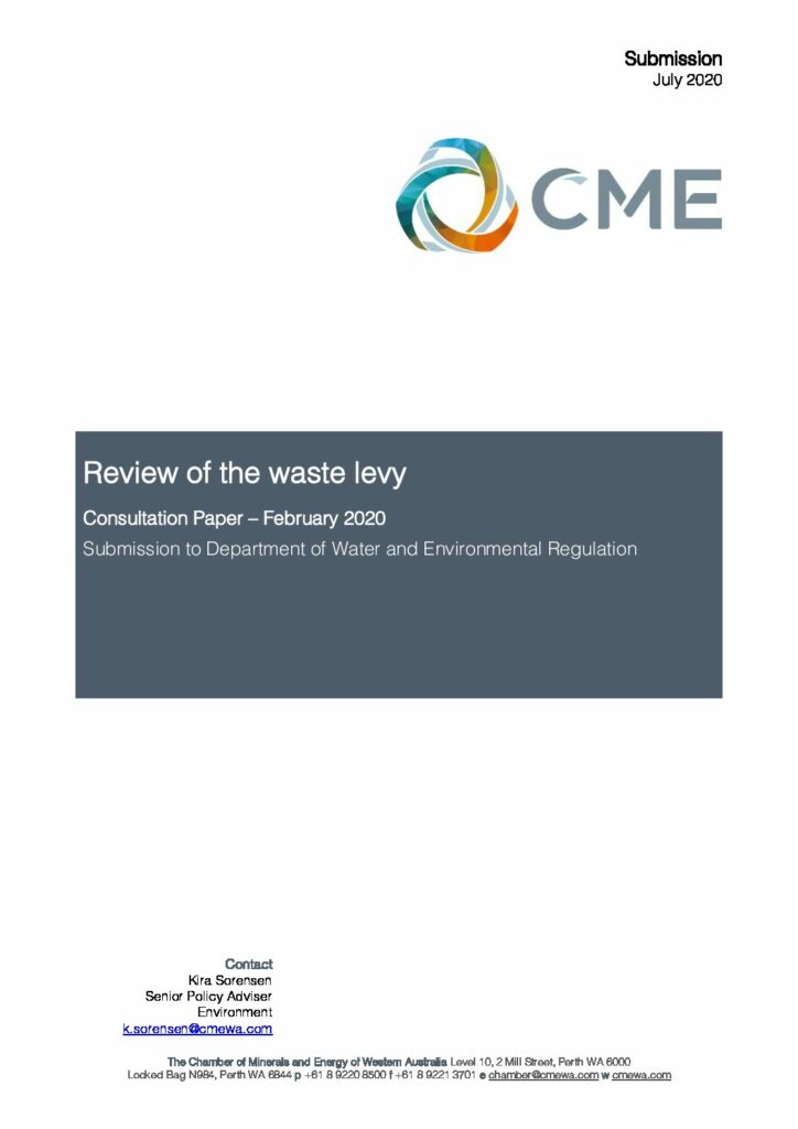 200714-Review of the waste levy_Submission-Final